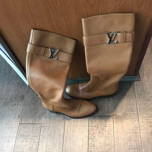 Authentic LV boots worn once